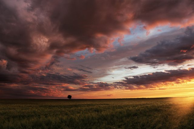 Cloudy sunset by Norbert Fritz