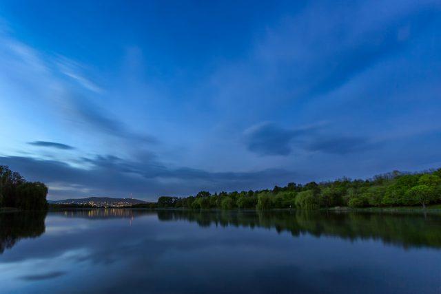 Twilight at lake Malomvölgy by Norbert Fritz